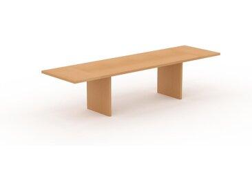 Bureau - Hêtre, design contemporain, table de travail, fonctionnelle - 320 x 75 x 90 cm, modulable