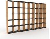 Bibliothèque - Graphite, design, étagère pour livres, sophistiquée, ouverte et fonctionelle - 310 x 195 x 35 cm, personnalisable