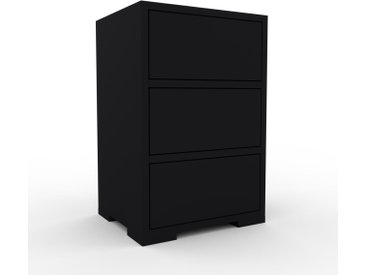 Commode - Noir, pièce de caractère, sophistiquée, avec tiroir Noir - 41 x 62 x 35 cm, personnalisable
