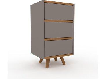 Table de chevet - Gris, contemporaine, table de nuit, avec tiroir Gris - 41 x 72 x 35 cm, modulable