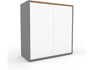 Caisson à roulette - Blanc, pièce modulable, rangement mobile, avec porte Blanc - 77 x 80 x 35 cm
