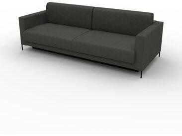 Canapé convertible - Gris ardoise, design épuré, canapé lit confortable, confortable avec coffre de rangement - 224 x 75 x 98 cm, modulable
