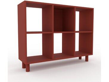 Range CD - Terra cotta, design contemporain, meuble pour vinyles, DVD - 118 x 91 x 35 cm, personnalisable