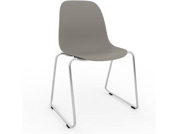 Chaise en bois Gris sable de 49 x 82 x 58 cm au design unique, configurable