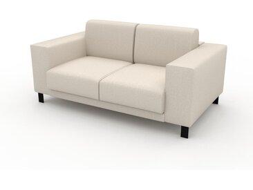Canapé 2 places - Beige crème, design épuré, petit canapé deux personnes, élégant - 168 x 75 x 98 cm, modulable