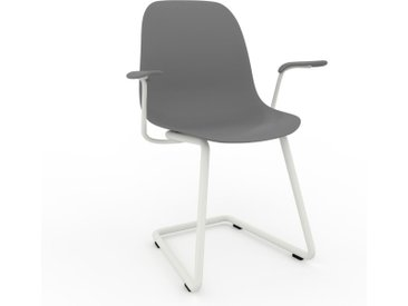 Chaise cantilever gris de 49 x 82 x 62 cm au design unique, configurable