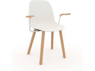 Chaise en bois blanc de 49 x 82 x 62 cm au design unique, configurable