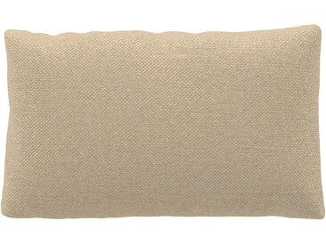 Coussin Blanc Crème - 30x50 cm - Housse en Textile tissé. Coussin de canapé moelleux