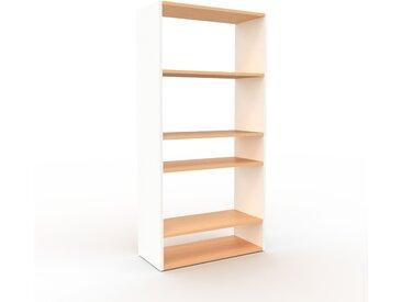 Bibliothèque - Blanc, design, étagère pour livres, sophistiquée, ouverte et fonctionelle - 77 x 157 x 35 cm, personnalisable