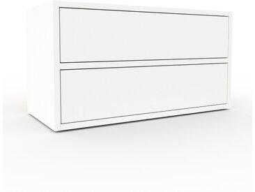 Commode - Blanc, pièce de caractère, sophistiquée, avec tiroir Blanc - 77 x 41 x 35 cm, personnalisable