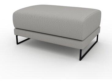 Pouf - Gris sable, design épuré, 80 x 42 x 60 cm, modulable