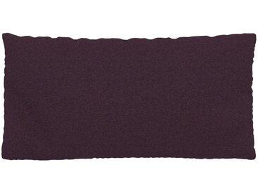 Coussin Aubergine - 40x80 cm - Housse en Laine. Coussin de canapé moelleux