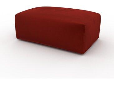 Pouf en velours - Orange rouille, design épuré, 100 x 42 x 64 cm, modulable