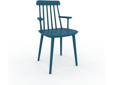 Chaise avec accoudoirs bleu de 43 x 82 x 53 cm au design unique, configurable