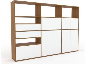 Meuble de rangements - Blanc, design, pour documents, avec porte Blanc et tiroir Blanc - 226 x 157 x 35 cm