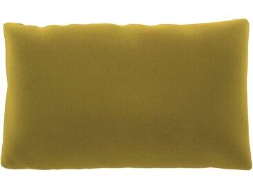 Coussin Jaune Colza - 30x50 cm - Housse en Velours. Coussin de canapé moelleux