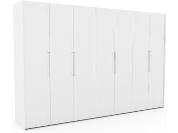 Dressing - Blanc, design, armoire penderie pour chambre ou entrée, à portes battantes - 354 x 233 x 62 cm, modulable