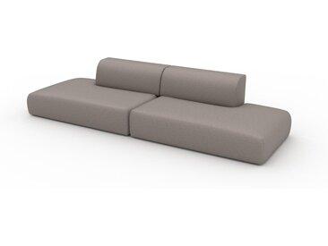 Canapé en cuir - Beige taupe Cuir Végan, lounge, esprit club ou cosy avec toucher chaleureux - 322 x 72 x 107 cm, modulable