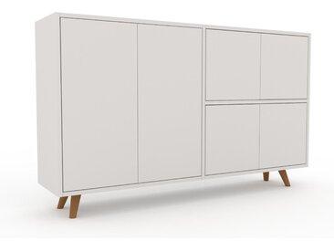 Enfilade - Blanc, modèle de caractère, buffet, avec porte Blanc - 152 x 91 x 35 cm, modulable