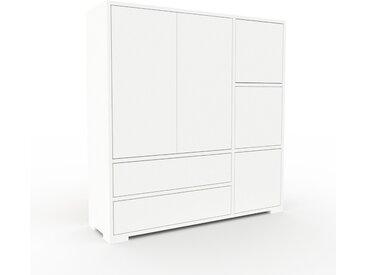 Meuble de rangements - Blanc, design, pour documents, avec porte Blanc et tiroir Blanc - 116 x 120 x 35 cm