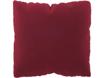 Coussin Rouge Corail - 40x40 cm - Housse en Velours. Coussin de canapé moelleux