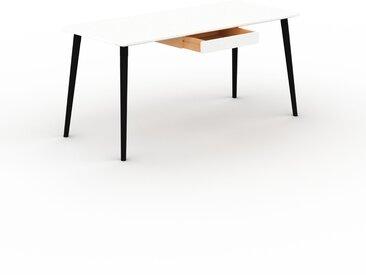 Table scandinave - Blanc, style nordique, plateau de table épuré - 160 x 75 x 70 cm, personnalisable