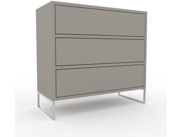 Commode - Gris sable, pièce de caractère, sophistiquée, avec tiroir Gris sable - 77 x 72 x 35 cm, personnalisable