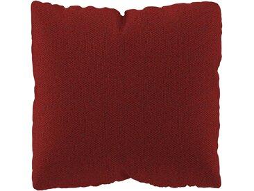 Coussin Orange Sanguine - 40x40 cm - Housse en Laine chinée. Coussin de canapé moelleux