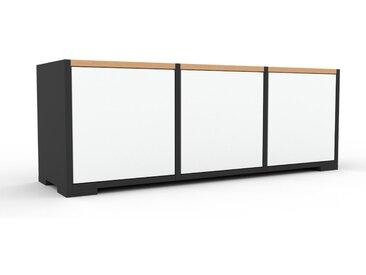 Enfilade - Blanc, modèle de caractère, buffet, avec porte Blanc - 118 x 43 x 35 cm, modulable