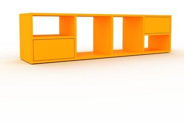 Caisson à roulette - Jaune, pièce modulable, rangement mobile, avec tiroir Jaune - 156 x 41 x 35 cm