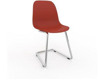 Chaise cantilever rouge de 49 x 82 x 44 cm au design unique, configurable
