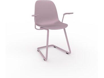 Chaise cantilever Rose poudré de 49 x 82 x 62 cm au design unique, configurable