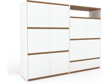 Buffet - Blanc, moderne, avec porte Blanc et tiroir Blanc - 152 x 118 x 35 cm
