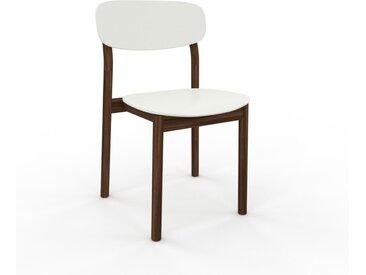 Chaise en bois blanc de 52 x 82 x 49 cm au design unique, configurable