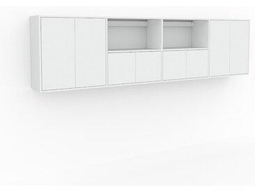 Étagère murale - Blanc, modèle moderne, placard, avec porte Blanc - 301 x 80 x 35 cm, modulable