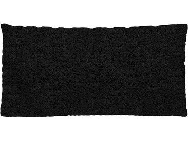 Coussin Noir Lave - 40x80 cm - Housse en Tissu grossier. Coussin de canapé moelleux