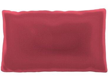 Coussin Rouge Corail - 30x50 cm - Housse en Velours. Coussin de canapé moelleux