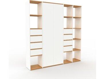 Armoire - Blanc, design, pour documents, avec porte Blanc et tiroir Blanc - 193 x 195 x 35 cm