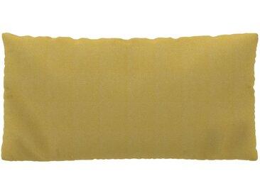 Coussin Jaune Moutarde - 40x80 cm - Housse en Tissu grossier. Coussin de canapé moelleux