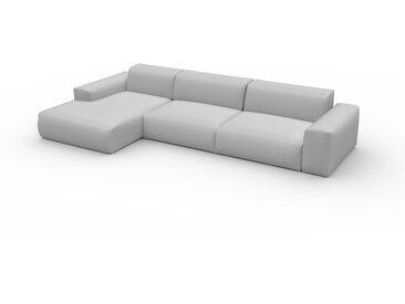 Canapé convertible - Gris Clair, design arrondi, canapé lit confortable, moelleux et lit confortable - 345 x 72 x 168 cm, modulable