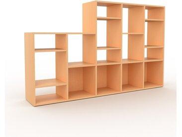 Système d'étagère - Hêtre, design contemporain, rangements de qualité, modulables - 195 x 118 x 35 cm, personnalisable