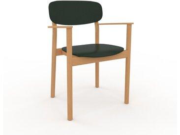 Chaise avec accoudoirs Vert sapin de 52 x 82 x 58 cm au design unique, configurable