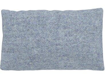 Coussin Bleu Glacier - 30x50 cm - Housse en Laine chinée. Coussin de canapé moelleux