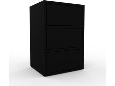Commode - Noir, pièce de caractère, sophistiquée, avec tiroir Noir - 41 x 61 x 35 cm, personnalisable