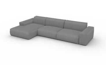Canapé convertible - Blanc Granite, design arrondi, canapé lit confortable, moelleux et lit confortable - 345 x 72 x 168 cm, modulable