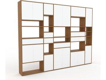 Meuble de rangements - Blanc, design, pour documents, avec porte Blanc et tiroir Blanc - 303 x 233 x 35 cm