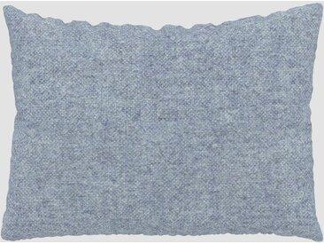 Coussin Bleu Glacier - 48x65 cm - Housse en Laine chinée. Coussin de canapé moelleux