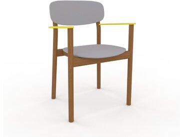 Chaise avec accoudoirs Gris clair de 52 x 82 x 58 cm au design unique, configurable