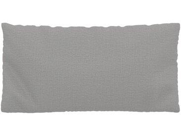 Coussin Gris Clair - 40x80 cm - Housse en Textile tissé. Coussin de canapé moelleux
