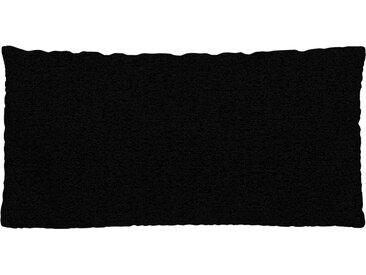 Coussin Noir Nuit - 40x80 cm - Housse en Tissu grossier. Coussin de canapé moelleux